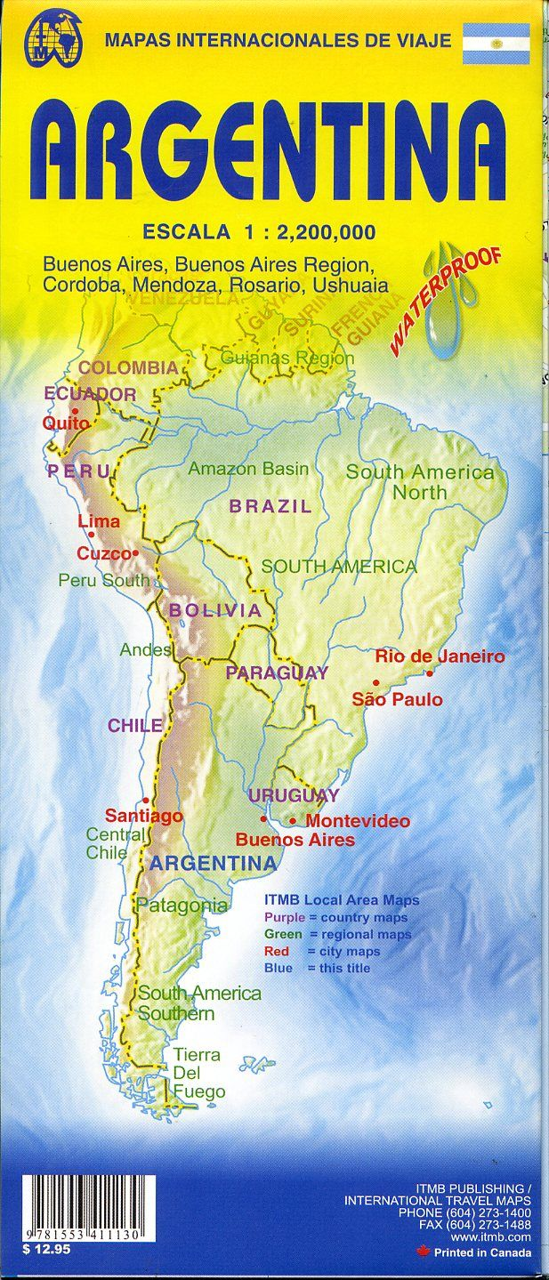 Travel Reference Map - Argentina map tourist